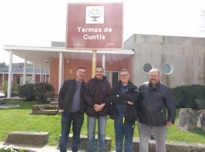 Carlos con el resto de compañeros que realizaron el viaje a las Termas de Cuntis