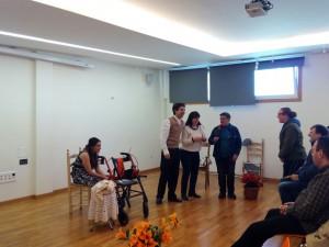 Participación de forma improvisada por parte de los participantes del centro de Los Chopos