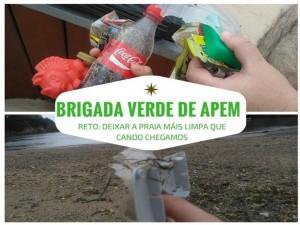La Brigada Verde de Apem. Proyecto creado durante el verano en las salidas del CRPL Los Chopos a la playa.