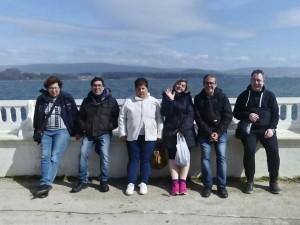 Laura y el resto de sus compañeros durante el viaje