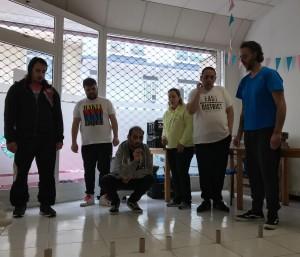 Los participantes del centro durante una prueba de las  olimpiadas